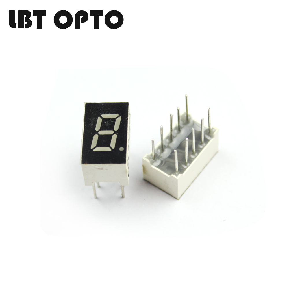 1 digit 0.3 inch with 1 dot led 7 segment display