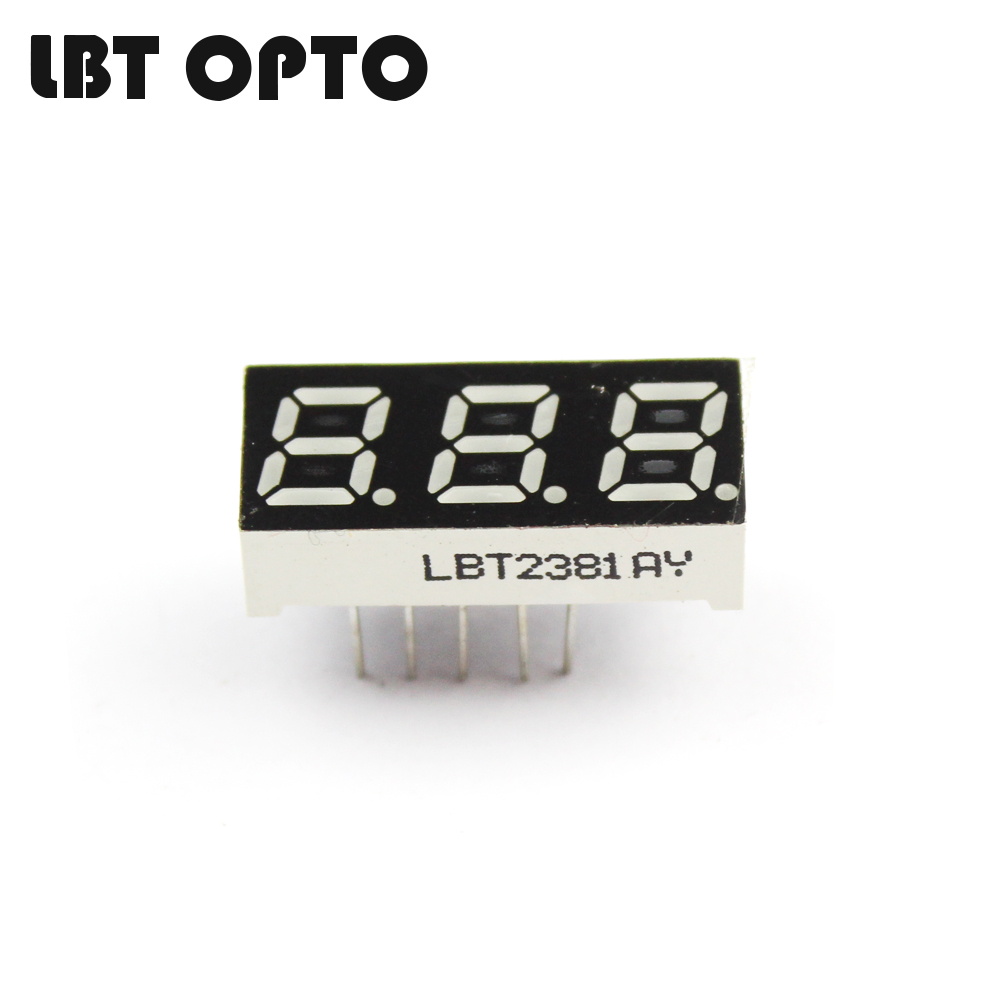3 digit 0.28 inch led 7 segment display
