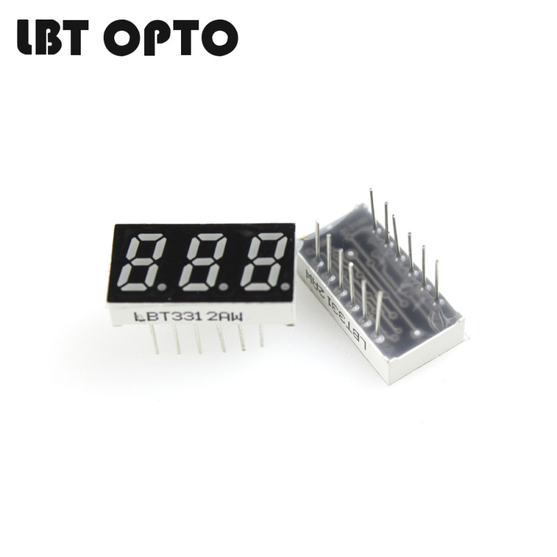 3 digit 0.31 inch led 7 segment display