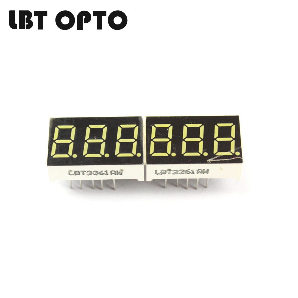 3 digit 0.36 inch led 7 segment display