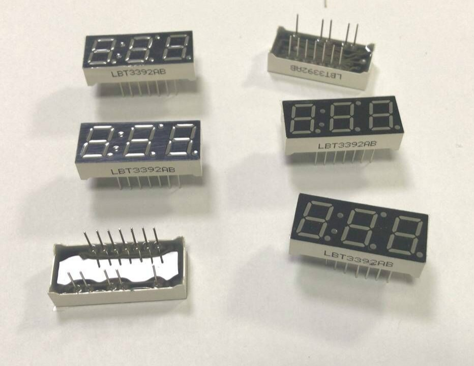 3 digit 0.39 inch led 7 segment display