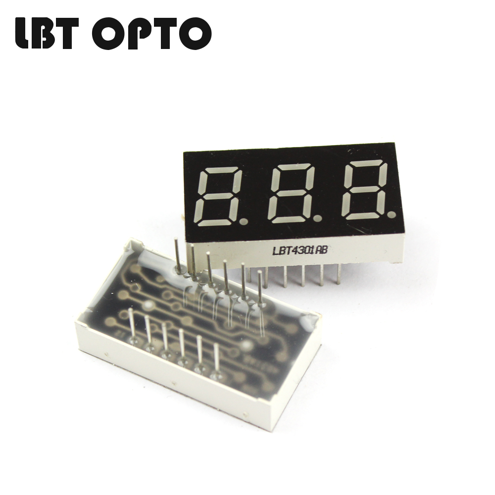 3 digit 0.4 inch led 7 segment display