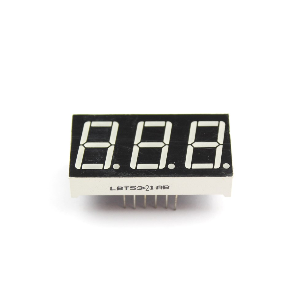 3 digit 0.52 inch led 7 segment display