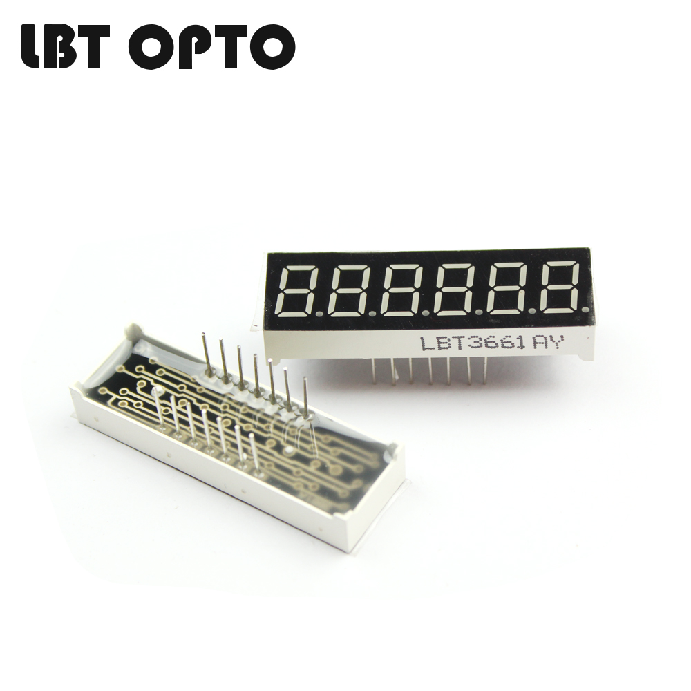 6 digit 0.36 inch led 7 segment display