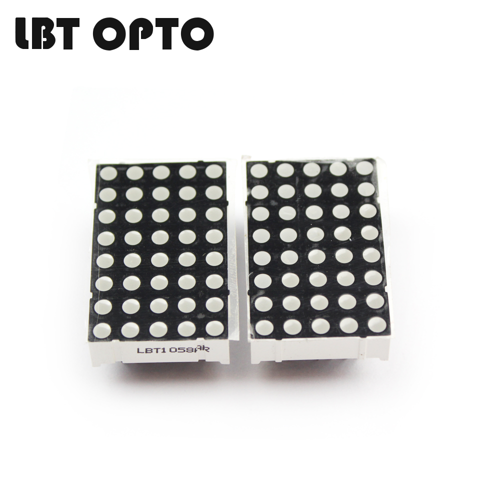 23.4*37.4mm 5x8 D1058 dot matrix led 3mm dot diameter