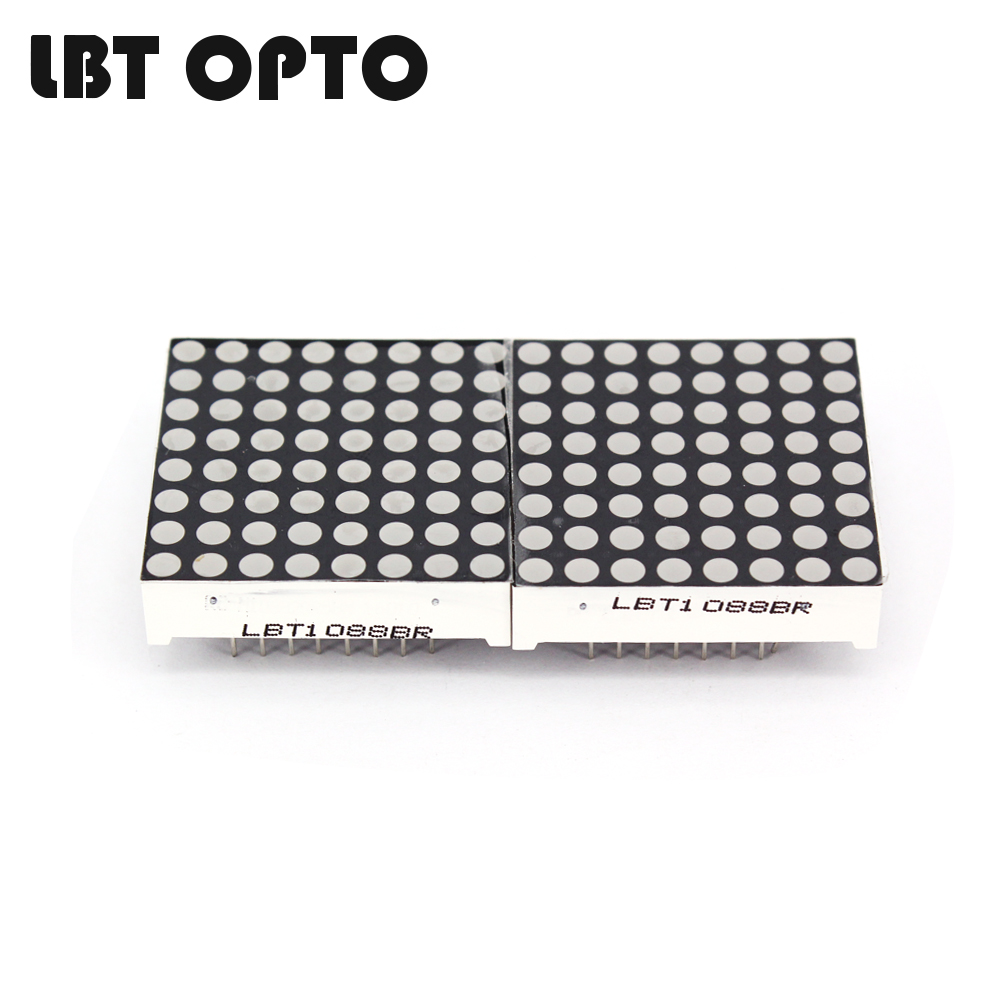 32.0*32.0mm 8x8 D1088 dot matrix led 3mm dot diameter
