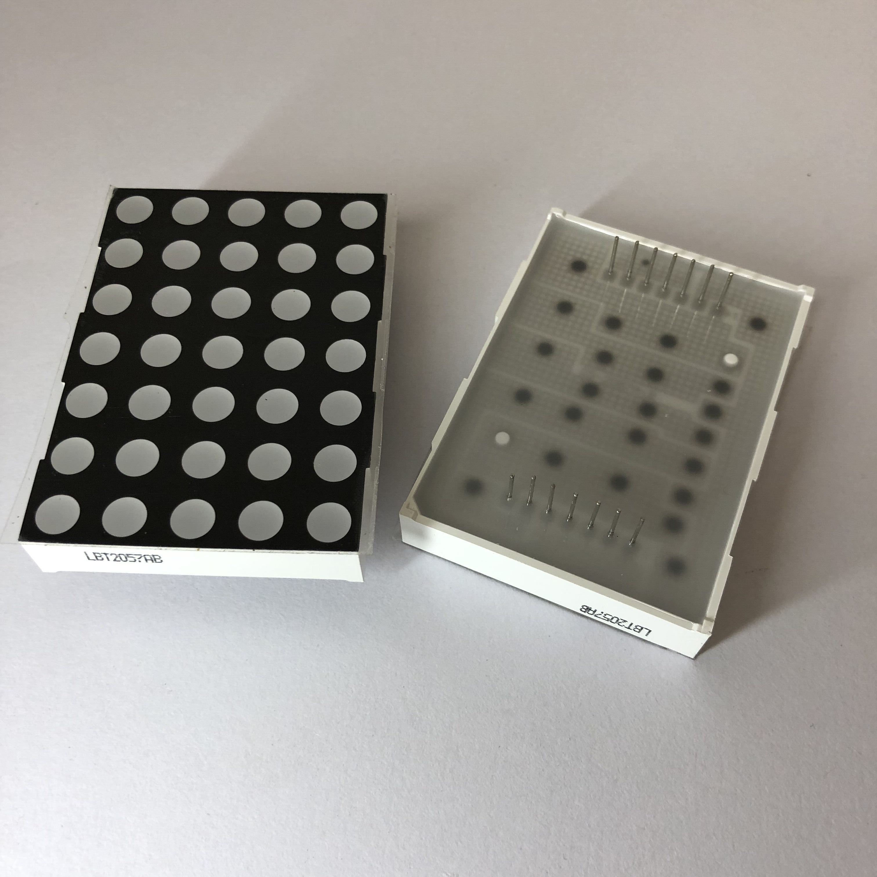 37.8*53.1mm 5x7 D2057 dot matrix led 5.0mm dot diameter
