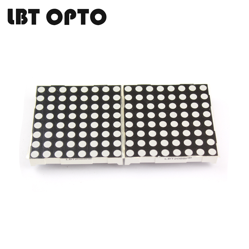 60.2*60.2mm 8x8 D2088 dot matrix led 5.0mm dot diameter